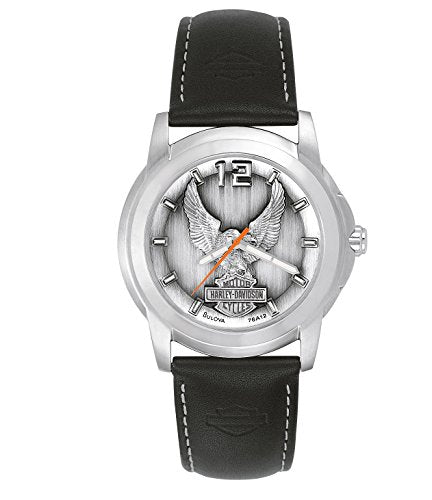 Bulova Men's 76A12 Harley Davidson Japanese-Quartz Grey Watch