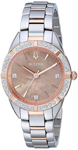 Bulova Women's Quartz Stainless Steel Dress Watch, Color:Silver-Toned (Model: 98R264)