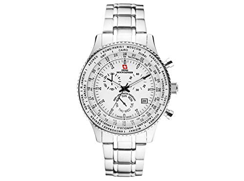 Swiss Mountaineer Mens Stainless Steel Watch SM1212