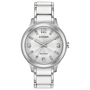 Citizen Women's Drive Quartz Watch with Stainless Steel Strap, Two Tone, 16 (Model: FE7070-52A)