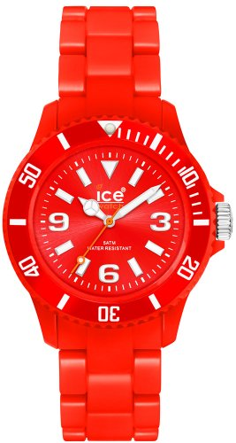 Ice-Watch Unisex Classic Pastel CS.RD.S.P.10 Red Plastic Analog Quartz Watch with Red Dial