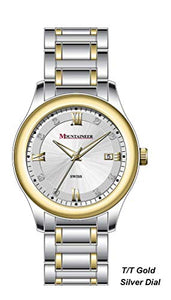 Swiss Mountaineer Mens Watch Two-Tone Stainless Steel Band MS6010