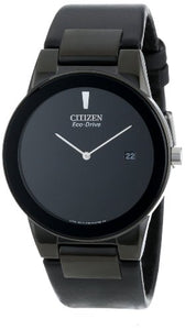 Citizen Men'S Au1065-07E Eco-Drive Axiom Black Leather Strap Watch