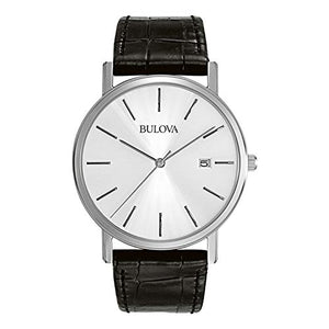 Bulova Classic Silver White Dial Stainless Steel Watch 96B104