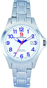 Swiss Mountaineer Womens Silver Stainless Steel Watch SML8036
