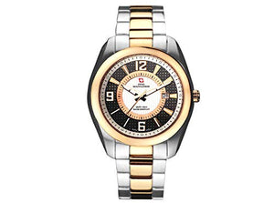 Swiss Mountaineer Mens Two-Tone Stainless Steel with Carbon Fibre Watch SM1481