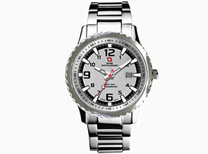 Swiss Mountaineer SM1470 Mens Silver Dial Bracelet Watch