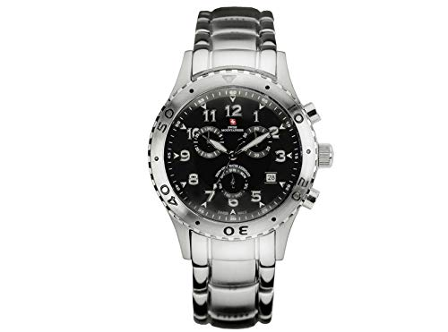Swiss Mountaineer Mens Silver Stainless Steel Band Watch SM1251