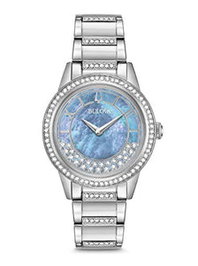 Bulova TurnStyle Women's Blue Mother-of-Pearl Crystal Watch 96L260