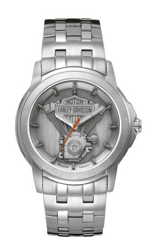 Bulova Men's 76A021 Harley Davidson Japanese-Quartz Grey Watch
