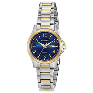 Citizen Women's Japanese-Quartz Stainless-Steel Strap, Two Tone, 11 Casual Watch (Model: EQ0595-55L