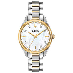 Bulova Sutton Women's Gold Diamond Classic Watch 98P184