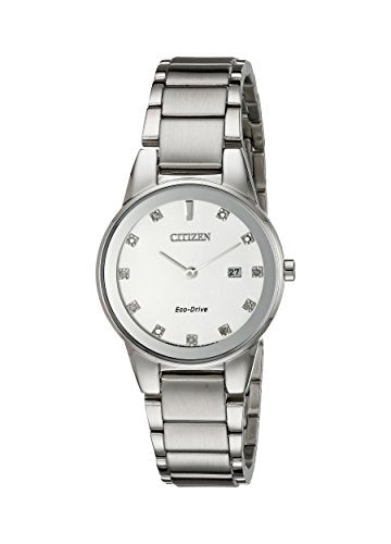 Citizen Women's GA1050-51B Axiom Analog Display Japanese Quartz Silver Watch