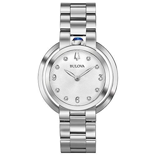 Bulova Rubaiyat Women's White Dial Diamond Stainless Steel Watch 96P184