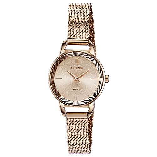 Citizen Women's Japanese-Quartz Stainless-Steel Strap, Rose Gold, 10 Casual Watch (Model: EZ7003-51X