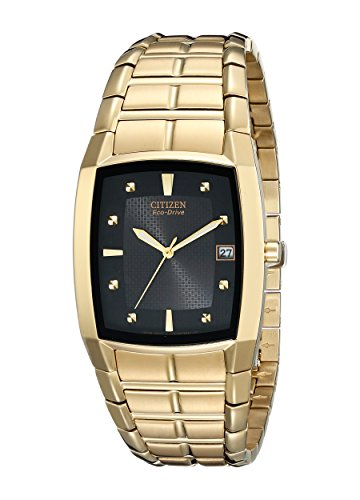 Citizen Men's BM6552-52E Eco-Drive Gold-Tone Black Dial Watch