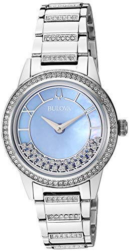 Bulova Women's Turnstyle Mother-of-Pearl Watch 96L260