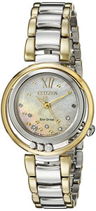 Citizen Women's EM0324-58D L Sunrise Analog Display Japanese Quartz Two Tone Watch