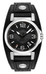 Bulova Men's 76B163 Harley Davidson Japanese-Quartz Black Watch