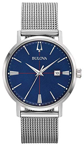 Bulova Men's Analogue Quartz Watch with Stainless Steel Strap 96B289