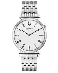 Bulova 96A232 Men's Classic Regatta White Dial Bracelet Watch