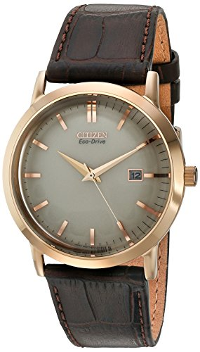 Citizen Men's BM7193-07B Eco-Drive Rose Gold Tone Date Watch