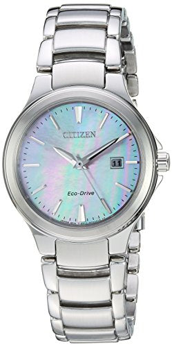 Citizen Women's 'Eco-Drive' Quartz Stainless Steel Fashion Watch, Color:Silver-Toned (Model: EW2520-56Y)