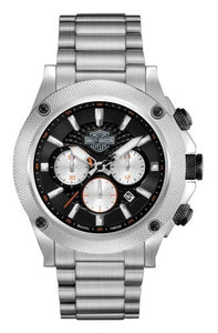 Harley-Davidson Men's Silver Tone Chronograph Watch 78B126