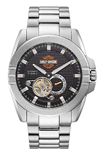 Harley-Davidson Men's Automatic Throttle Stainless Steel Watch 76A166