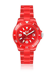 Ice-Watch Unisex Classic Solid CS.RD.U.P.10 Red Plastic Quartz Watch with Red Dial