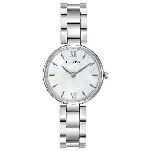 Bulova Women's Quartz Stainless Steel Casual Watch, Color:Silver-Toned (Model: 96L229)