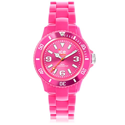 ICE SDPKUP12 Ice-Watch SD.PK.U.P.12 Ice-Solid Unisex Watch PINK- ICERAMIC LINKS - SUNRAY DIAL - 10ATM