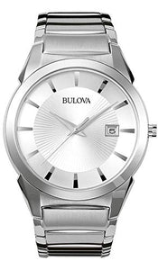 Bulova Classic Men's Silver White Dial Stainless Steel Watch 96B015