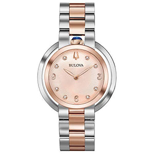 Bulova Women's 98P174 Japanese-Quartz Pink Watch