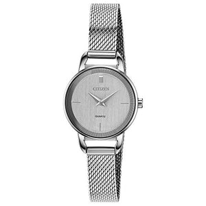Citizen Women's Japanese-Quartz Stainless-Steel Strap, Silver, 10 Casual Watch (Model: EZ7000-50A