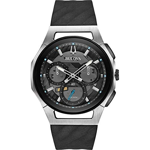 Bulova Men's 98A161 Japanese-Quartz Black Watch