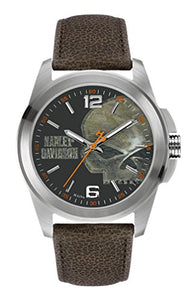 Bulova Men's 76A146 Harley Davidson Japanese-Quartz Black Watch