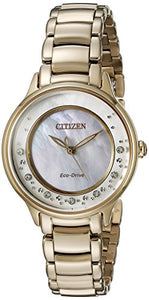 Citizen Women's L Circle of Time EM0382-86D Wrist Watches, Mother of Pearl Dial