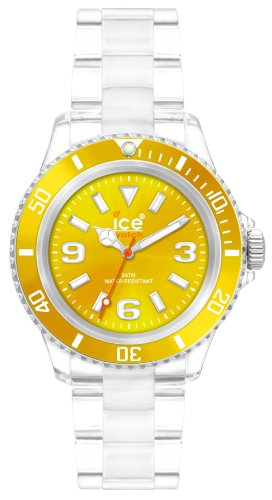 Ice-Watch Women's CL.YW.S.P.09 Classic Collection Yellow Dial Clear Plastic Watch