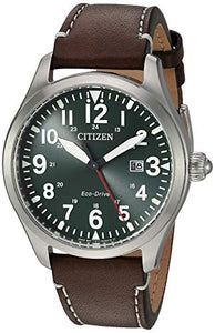 Copy of Citizen Men's Chandler Stainless Steel Quartz Watch with Leather Calfskin Strap, Brown, 21 (Model: BM6838-09X)