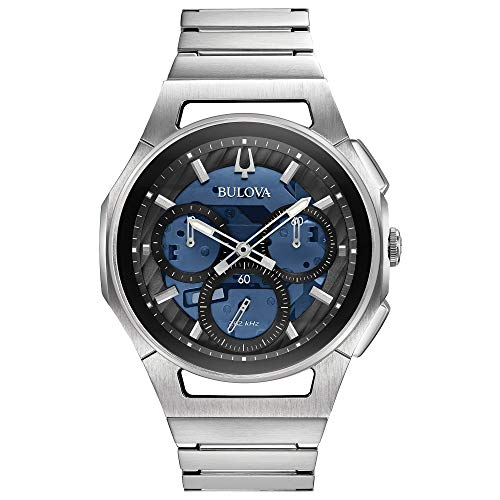 Bulova Men's 96A205 Japanese-Quartz Blue Watch