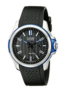 Citizen Men's AW1151-04E AR 2.0 Eco-Drive Stainless Steel Black Dial Watch