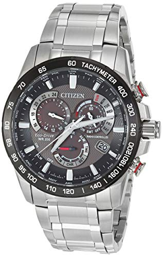 Citizen Men's PCAT Quartz Sport Watch with Stainless Steel Strap, Silver, 21.5 (Model: CB5898-59E)