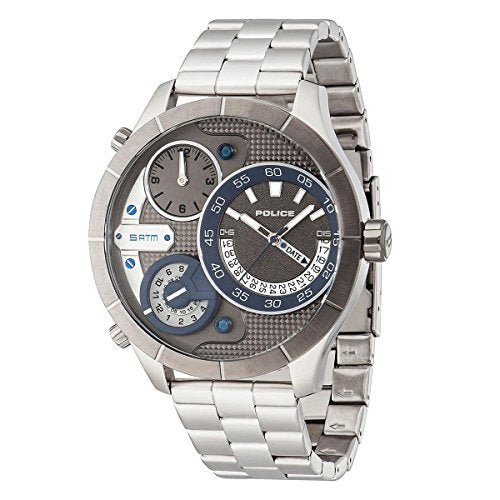 Police PL14638XSTU/61M Watch with 2 Hands and 2 Hands and 3 Hands Date