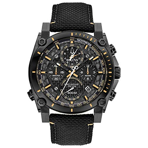 Bulova Mens Precisionist Black Chronograph Stainless Steel Watch 98B318