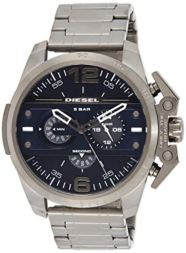 Diesel Men's 'Ironside' Quartz Stainless Steel Automatic Watch, Color:Grey (Model: DZ4398)