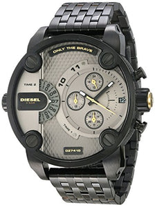 Diesel Men's 'Little Daddy' Quartz Stainless Steel Casual Watch, Color:Black (Model: DZ7410)