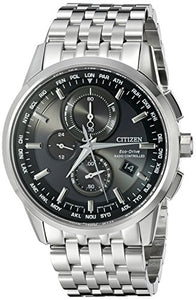 Citizen Men's World Chronograph A-T AT8110-53E Wrist Watches, Black Dial