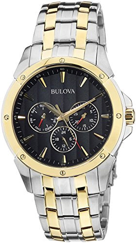 Bulova Men's 98C120 Sport Analog Display Japanese Quartz Two Tone Watch