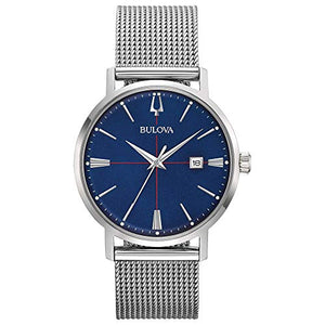 Bulova Men's Quartz Stainless Steel Dress Watch, Color:Silver-Toned (Model: 96B289)
